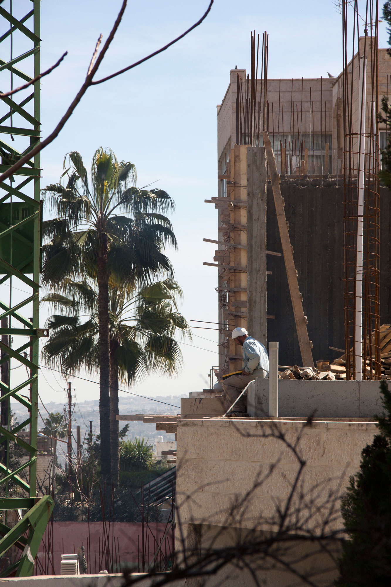 Construction in Jordan's capital city of Amman is booming. Last year around 2000 houses were built.